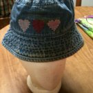 Girl's/Boy's Baby Gap Rugged Distressed Denim Sun Hat - Size 12-24 Months - Nice