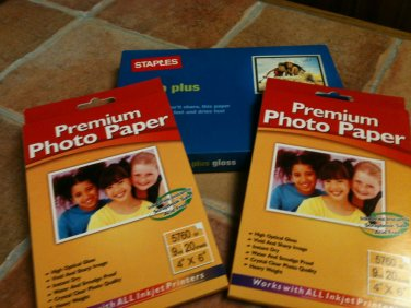 Premium Photo Paper 4 x 6 - Approximately 61 Sheets