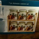 "DOLOMITE 7 PC SPICE CANISTER SET  by RTH  - NEW IN  BOX-""GREAT GIFT "" L@@K!!!!"