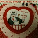"""Happiness is Holiday Cheer"" Grandma Cooking Counted Cross Stitch Kit w/frame"