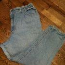 Womens Jeans Size 24W Pet - Light Blue LEE --Stretch Sides in Waist