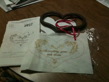 """TRI CHEM 2927 """"Everything Grows With Love""""  Liquid Embroidery Kit w/Frame"""