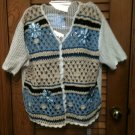 Beautiful Teddi Embellished S/S  Sweater/Vest   Size L L@@K!!!