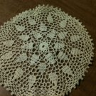 Beautiful Vintage Hand Crocheted Cream Doilie