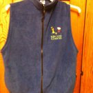 Badger Sport Fleece Royal Blue Vest-Size L - Very Nice - Walking Running Jogging