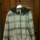 OP Ocean Pacific Mens Hooded Jacket Coat - Size XL (46-48) White, Gray & Blue