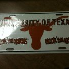 UNIVERSITY OF TEXAS LONGHORNS LICENSE PLATE CAR TRUCK TAG- Pick One Tag