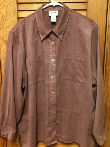 ALFRED DUNNER Woman Plum Long Sleeve Jacket/Top/Blouse - Size 20W