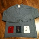 Company Collection L/S Round Neck Soft Bluish Gray Sweater w/Embroidery-Large