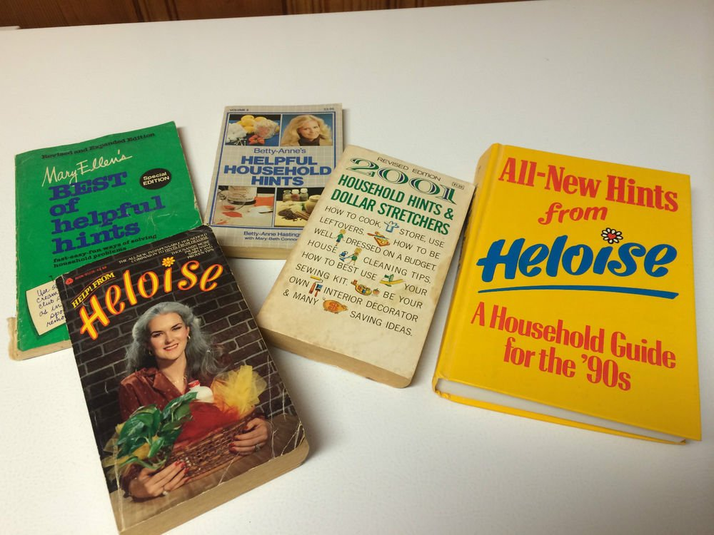 Lot of 5 Household Hints/ Heloise/ Betty-Anne/Mary Ellen/2001 Dollar Stretchers