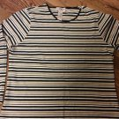Sag Harbor Sport Stripe Round Neck L/S Top/BLouse - Large - 60% Cotton/40% Poly
