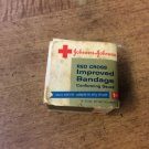 Vintage ?? Johnson & Johnson Red Cross Improved Bandage Conforming Gauze 1""