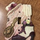 Light Wall Switch Plate Cover Victorian Boot, Mirror, Pearls, Hat, Glove EUC