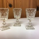 3 Vintage? Shot/Cordial/Juice/Brandy/Vodka/Cognac Pressed Glass Stemmed Glasses