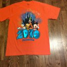 Orange DISNEY FLORIDA 2010 T-Shirt Size Large  100% Cotton