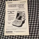 Coleco DONKEY KONG by Nintendo Model #2391-- Instruction Manual ONLY - 1982