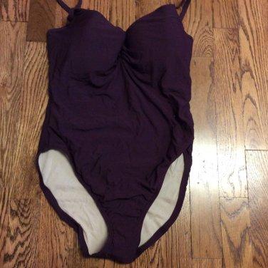 Victoria's Secret PLUM  One Piece Swim Suit 8D New without tags