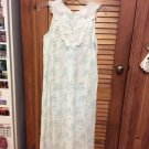 Dixie Belle Lovely Nightgown and Robe - 38-40 White w/pale Pink & Green Flowers