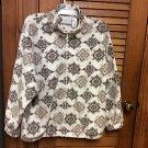 Ladies Women's Alfred Dunner Soft Fleece Zip Front Sequins Jacket Size PL
