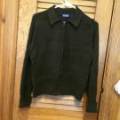 Honors Dark Brown Zip Front Sweater Cardigan Jacket - Size XL
