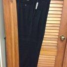 Flexwaist Van Heusen Pants W36L29 NavyW/stripe NWT Pleated Front Cuffed