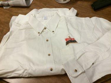 Winston Winner Logo Long sleeve Red or White Shirt Size L - NEW-