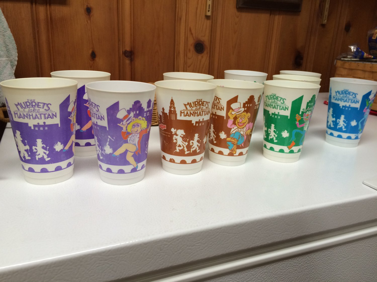 17 - The Muppets take Manhattan Plastic Cups Glasses - 1984