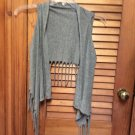 Girls Justice Knit Gray Fringed Vest Size x-small