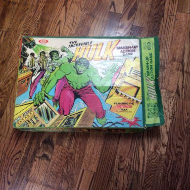 Vintage The Incredible Hulk Smash Up Action Game Ideal Toys 1979