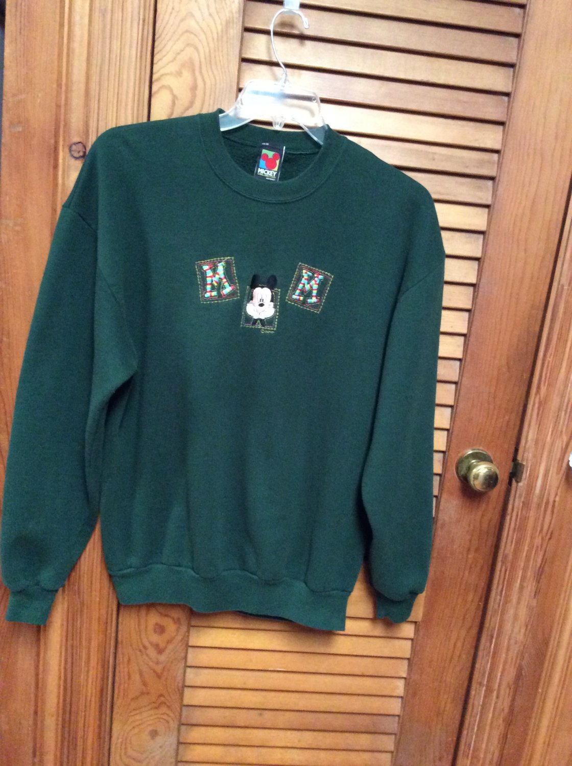 Mickey Mouse Womens/Mens Green Sweat Shirt Size XL