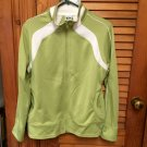 Ladies Lime Green/White Athletic Works Zip Front Jacket Large