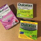 2 Dulcolax Laxative Tablets Pkgs & 1 DulcoGas tablets Pkg -New Unopened