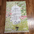 100% Cotton Hedgerows Dish Towel MFG in Britain