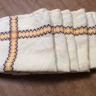 "Set of 6 Southwestern Beige Tan Napkins/Place Mats 17"" Square **"