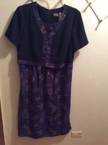 Women's M.H.M. Melissa Harper Faux 2 Piece Jacket Dress Size 16
