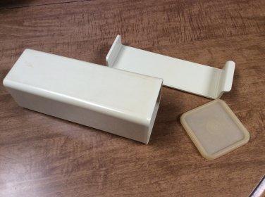 VTG TUPPERWARE Almond 2 lb Velveeta Cheese Keeper / Holder, 1696, 1697, 1698-5