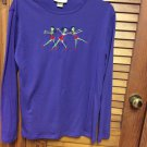 Ladies Womens Purple M & C Sportswear Halloween- Cute**** XL -Dancing Girls
