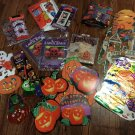 Lot Halloween Door Covers Candy bags Pumpkin Lawn Leaf Bags Sun Catchers & More