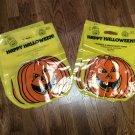 6 Halloween Trick or Treat Bags, Deco-Pumpkin Bags - Local Bank - NEW- 1980's