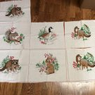 A Wild Life Christmas Picture Book Patches Fabric Panel by VIP Cranston
