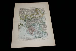 SALE - Antique Maps Set of 12 1889 F.S. Weller Engraver, London