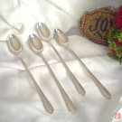 Vintage Ice Tea Spoons by Rogers A1 Plus Oneida Ltd IVY Iced Tea Spoons Set of 4