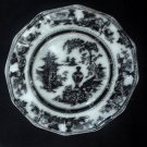 "Antique Mulberry W. Adams & Sons ""Jeddo""  Plate"