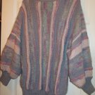 Vintage Women's Purple /Lavender & Pink Mohair and Wool English Sweater