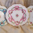Afternoon Tea Elegance - Antique 1860s Minton Plates  Ribbons & Roses Pattern