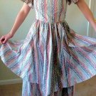 Vintage 1980s British Designer Droopy and Brown Renaissance Dress