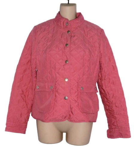 Ann Taylor Loft Salmon Pink Quilted Jacket Coat 2 XS S