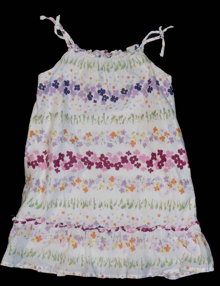 Baby Gap Toddler White Purple Pink Floral Sundress 3 3T