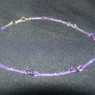 Electric Purple Flower Necklace