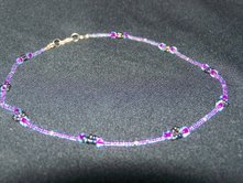 Electric Purple Flower Necklace